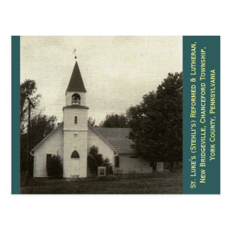 St Luke reformado y iglesia luterana York Co PA Postales