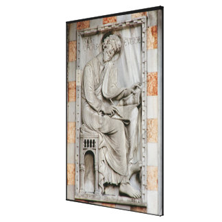St. Luke, relief from the north side of the basili Canvas Print