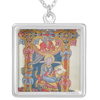 St. Luke Square Pendant Necklace