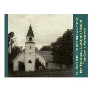 St. Luke's Reformed & Lutheran Church, York Co, PA Postcard