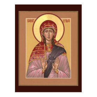 St. Lydia Prayer Card Postcard