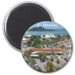 St. Maarten - bahía de Marigot Imanes Para Frigoríficos