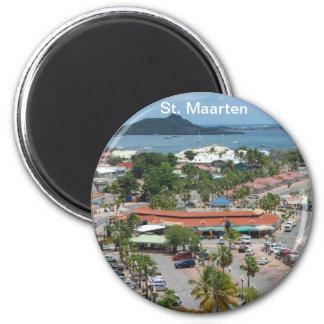 St. Maarten - bahía de Marigot Imán Redondo 5 Cm