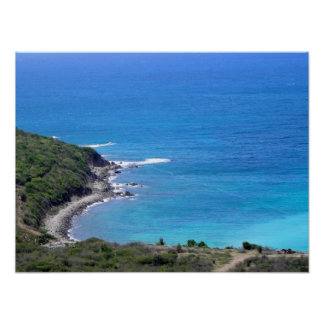 St. Maarten Coast Poster