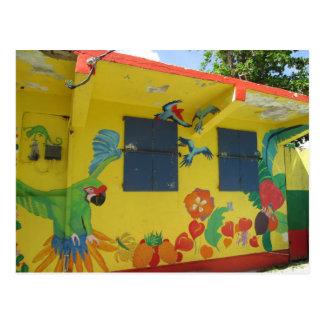 St. Maarten del arte del dibujo animado Tarjeta Postal