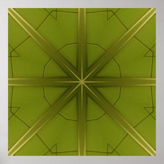 St. Maarten Green Tile Abstract #4  Poster