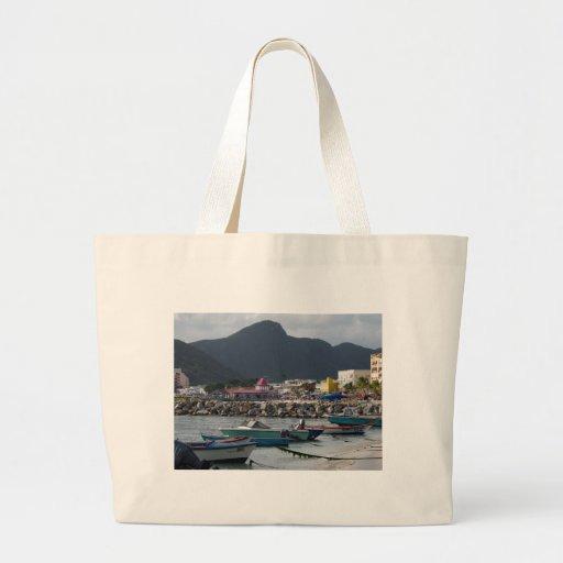 St. Maarten Harborside Tote Bags
