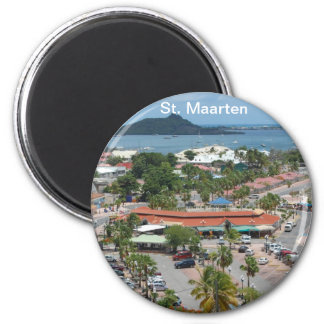 St. Maarten - Marigot Bay 2 Inch Round Magnet