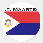 St. Maarten Pegatina Redonda