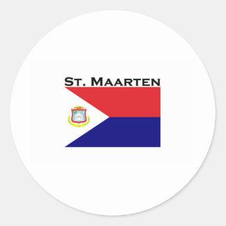 St Maarten Pegatinas Redondas