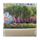 "St. Maarten Sign Tile<br><div class=""desc"">a gorgeous photo</div>"