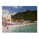 St. Maarten, St. Maarten de la playa Tarjeta Postal