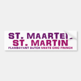 St. Maarten/ St. Martin Bumper Sticker