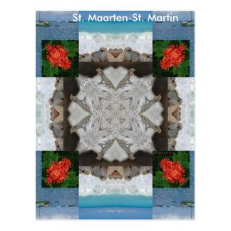 St. Maarten - St. Martin Kaleidoscope Postcard