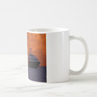 St. Maarten Sunset and Boat Coffee Mug