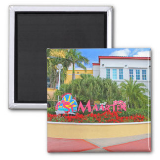 St. Maarten, Welcome sign, photography, Dutch Magnet