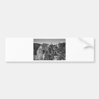 St Malo Chapel On the Rock Colorado BW Bumper Sticker