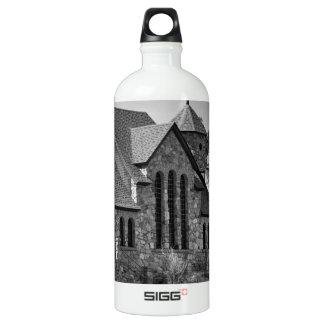 St Malo Chapel On the Rock Colorado BW Water Bottle