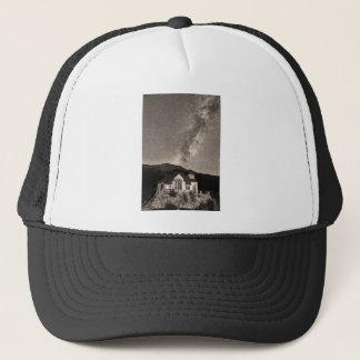 St Malo Miky Way Perseid Meteor Shower BW Sepia Trucker Hat