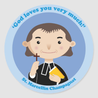St. Marcellin Champagnat Classic Round Sticker