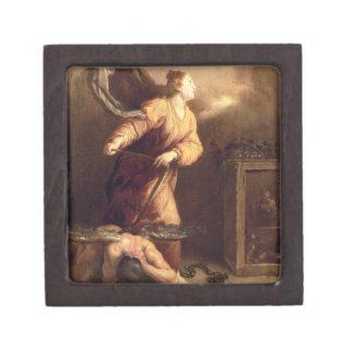 St Margaret al lado del diablo vencido (el panel) Cajas De Joyas De Calidad