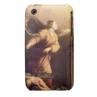 St Margaret al lado del diablo vencido (el panel) Case-Mate iPhone 3 Carcasas