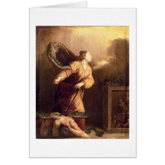 St Margaret al lado del diablo vencido (el panel) Felicitaciones