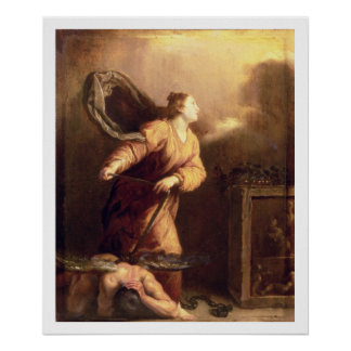 St. Margaret beside the vanquished Devil (panel) Poster
