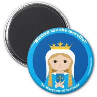 St Margaret de Escocia Imán Redondo 5 Cm