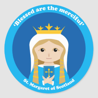 St Margaret de Escocia Pegatinas Redondas