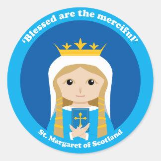 St Margaret de Escocia Pegatina Redonda