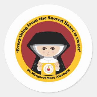 St Margaret Maria Alacoque Etiqueta