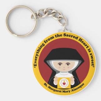 St Margaret Maria Alacoque Llavero Redondo Tipo Pin
