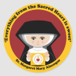 St Margaret Maria Alacoque Pegatinas Redondas