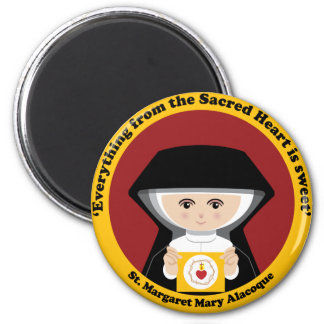 St. Margaret Mary Alacoque 2 Inch Round Magnet