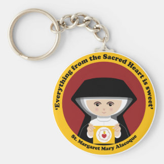 St Margaret Mary Alacoque Key Chain