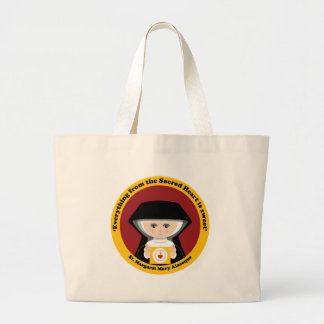 St. Margaret Mary Alacoque Large Tote Bag