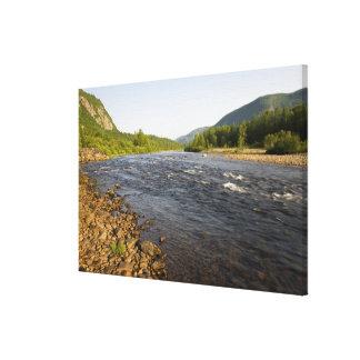 St. Marguerite river in Parc du Saguenay. Canvas Print