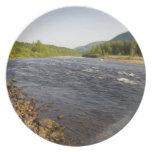 St. Marguerite river in Parc du Saguenay. Melamine Plate