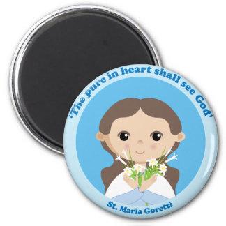 St. Maria Goretti 2 Inch Round Magnet
