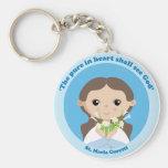 St. Maria Goretti Basic Round Button Keychain