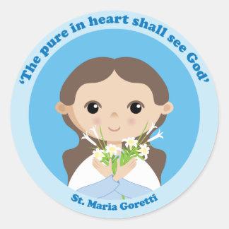St. Maria Goretti Etiquetas Redondas