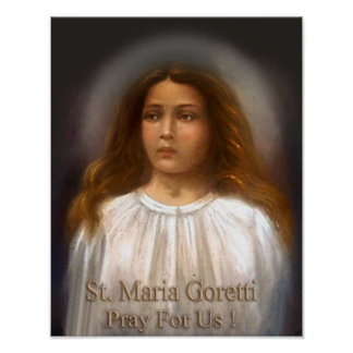 St. Maria Goretti, Martyr for Purity, Poster