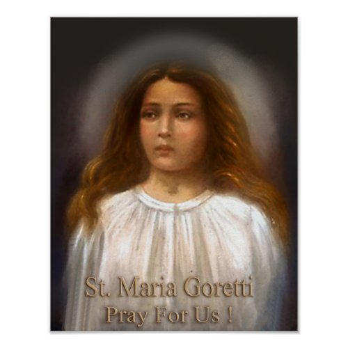 St Maria Goretti Martyr for Purity Poster