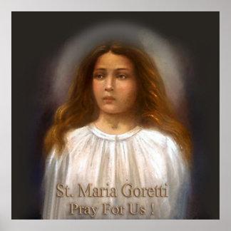 St Maria Goretti Pray For Us. Poster