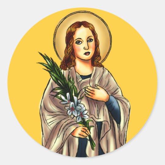 St. Maria Goretti Sticker | Zazzle.com