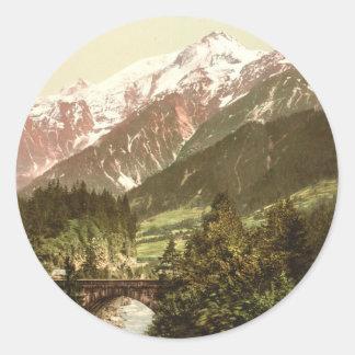 St Marie Bridge, Chamonix Valley, France Classic Round Sticker