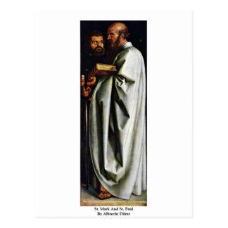 St. Mark And St. Paul By Albrecht Dürer Postcards