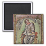 St. Mark at his desk 2 Inch Square Magnet