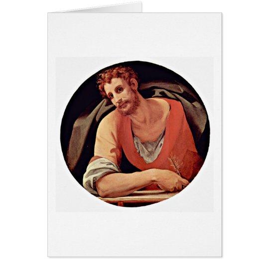 St. Mark By Agnolo Di Cosimo Card